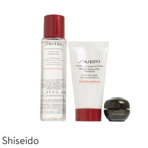 Shiseido set softener serum cream x3